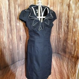 London Times Dress w/ Neck Detailing Sz 6